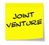 Notatki programu sticky notes joint venture — Zdjęcie stockowe