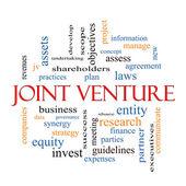 Joint Venture Word Cloud Concept — Stock Photo