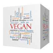 Vegan 3D cube Word Cloud Concept — Stock Photo