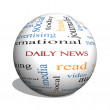 Daily News 3D sphere Word Cloud Concept — Stock Photo #46110717