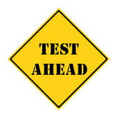 Test Ahead Sign — Stock Photo