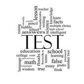 Test Word Cloud Concept in black and white — Stock Photo