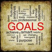 Goals Grunge Word Cloud Concept — Stock Photo