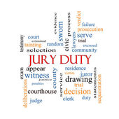 Jury Duty Word Cloud Concept — Stock Photo