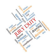 Jury Duty Word Cloud Concept Angled — Stock Photo