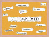 Self-Employed Corkboard Word Concept — Stock Photo