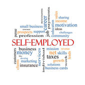 Self-Employed Word Cloud Concept — Stock Photo