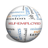 Self-Employed 3D sphere Word Cloud Concept — Stock Photo