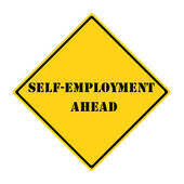 Self-Employment Ahead Sign — Stock Photo