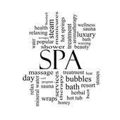 Spa Word Cloud Concept in black and white — Stock Photo