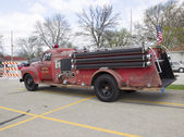 1951 Chevy Fire Truck Side View — Stock Photo