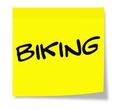 Biking Sticky Note — Photo