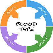 Blood Type Word Circle Concept Scribbled — Stock Photo