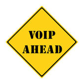Voip Ahead Sign — Stock Photo