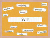 VOIP Corkboard Word Concept — Stock Photo