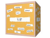 VOIP 3D cube Corkboard Word Concept — Stock Photo