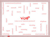 VOIP Word Cloud Concept on a Whiteboard — Стоковое фото