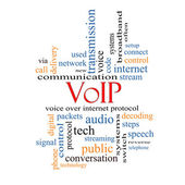 VOIP Word Cloud Concept — Stockfoto