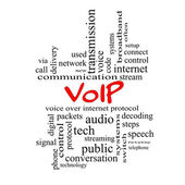VOIP Word Cloud Concept in red caps — Stock Photo