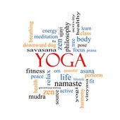Yoga Word Cloud Concept — Stock Photo