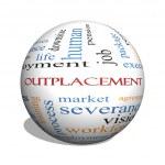 Outplacement 3D sphere Word Cloud Concept — Stock Photo