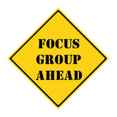 Focus Group Ahead Sign — Stock Photo