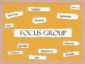 Focus Group Corkboard Word Concept — Stock Photo