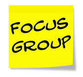 Focus Group Note — 图库照片