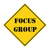 Focus Group Sign — 图库照片