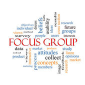 Focus Group Word Cloud Concept — Stock Photo