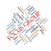 Focus Group Word Cloud Concept Angled — Stock Photo