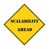 Scalability Ahead Sign — Stock Photo