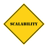 Scalability Sign — 图库照片