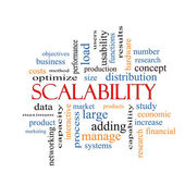 Scalability Word Cloud Concept — Stock Photo