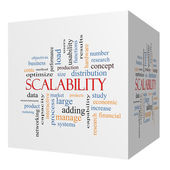 Scalability 3D cube Word Cloud Concept — Stock Photo