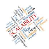 Scalability Word Cloud Concept Anlged — Stock Photo