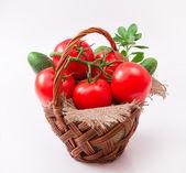 Tomates en cesta jacana — Foto de Stock