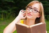 Females with a book — Stock Photo