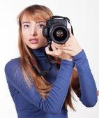 Women with camera — Stock Photo