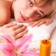 Beatiful women relax in spa — Stock Photo