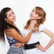 Stock Photo: Beautiful women friends happy