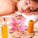Beatiful women relax in spa — Stock Photo #13705756