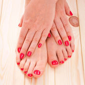 Manicure en pedicure — Stockfoto