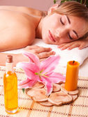 Beatiful women relax in spa — Foto Stock