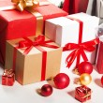 Gift box over white background. — Stock Photo