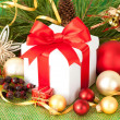 Christmas gift and decorations — Stock Photo #14680565