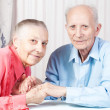 Happy Positive elderly couple — Stock Photo