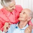 Closeup portrait of a smiling elderly couple - Foto de Stock  