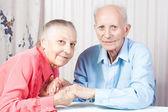 Happy Positive elderly couple — Stock Photo
