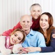 Portrait of  happy family. Concept of  elderly, children, grandc — Stock Photo